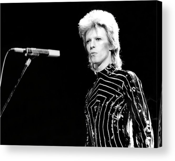 People Acrylic Print featuring the photograph Ziggy Stardust Era Bowie In La by Michael Ochs Archives