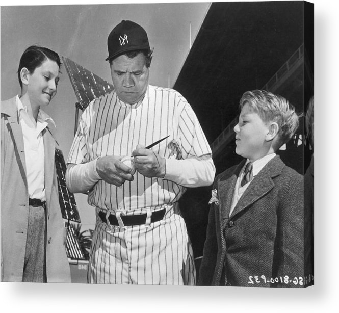 Child Acrylic Print featuring the photograph Babe Ruth by American Stock Archive