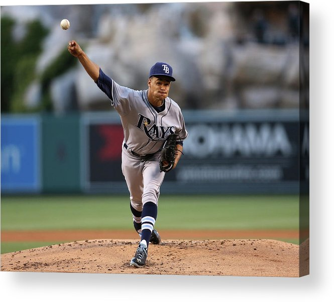 American League Baseball Acrylic Print featuring the photograph Chris Ray by Stephen Dunn