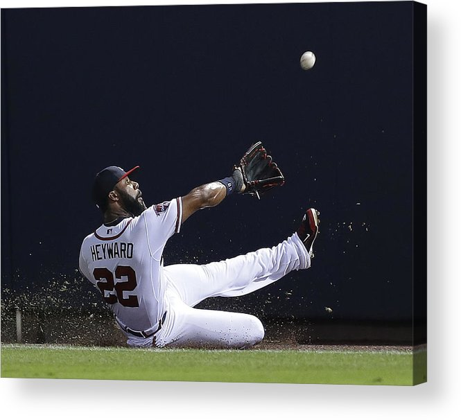 Atlanta Acrylic Print featuring the photograph Jason Heyward by Mike Zarrilli