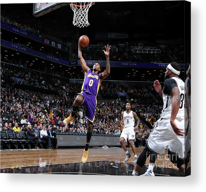 Nba Pro Basketball Acrylic Print featuring the photograph Nick Young by Nathaniel S. Butler
