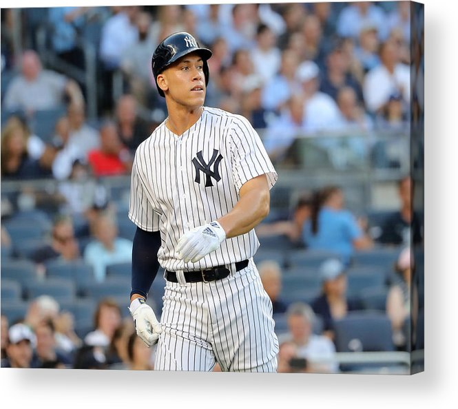 Three Quarter Length Acrylic Print featuring the photograph Aaron Judge by Elsa