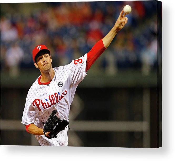 People Acrylic Print featuring the photograph Cole Hamels by Rich Schultz