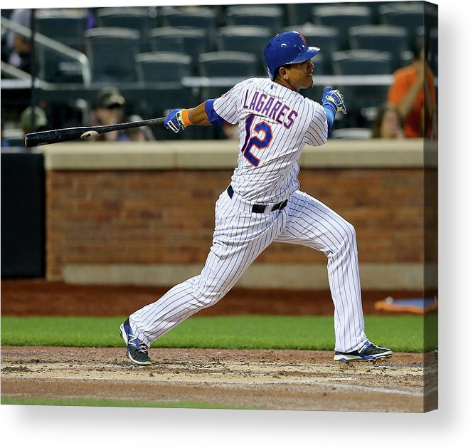 Second Inning Acrylic Print featuring the photograph Juan Lagares by Elsa