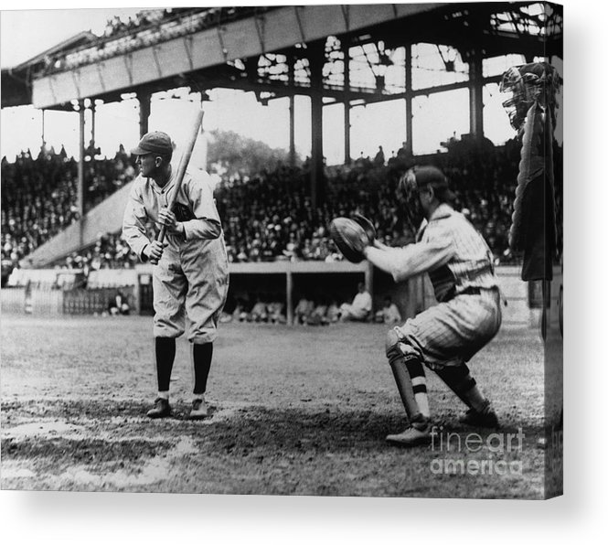 Baseball Catcher Acrylic Print featuring the photograph Ty Cobb by National Baseball Hall Of Fame Library