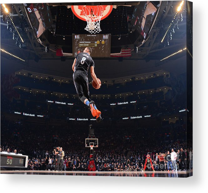 Event Acrylic Print featuring the photograph Zach Lavine by Jesse D. Garrabrant