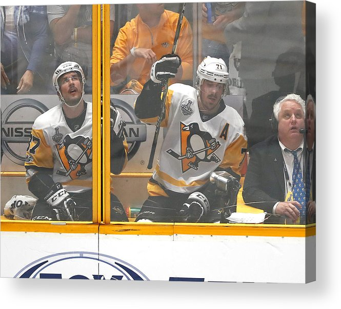Playoffs Acrylic Print featuring the photograph 2017 NHL Stanley Cup Final - Game Three by Justin K. Aller