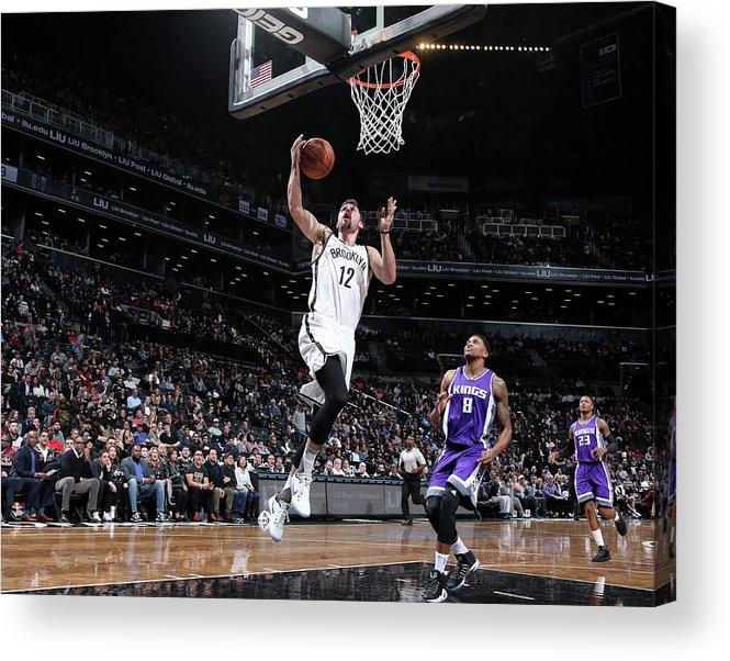Nba Pro Basketball Acrylic Print featuring the photograph Joe Harris by Nathaniel S. Butler
