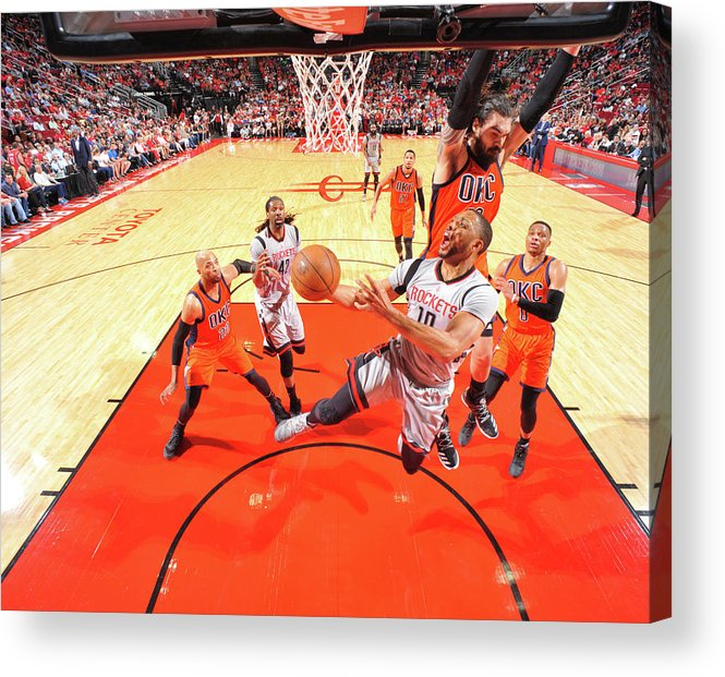 Nba Pro Basketball Acrylic Print featuring the photograph Eric Gordon by Bill Baptist