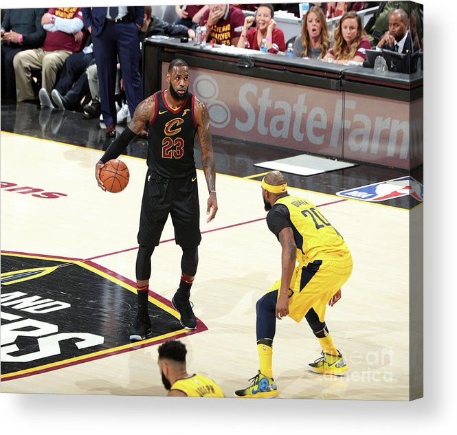 Playoffs Acrylic Print featuring the photograph Lebron James by Nathaniel S. Butler