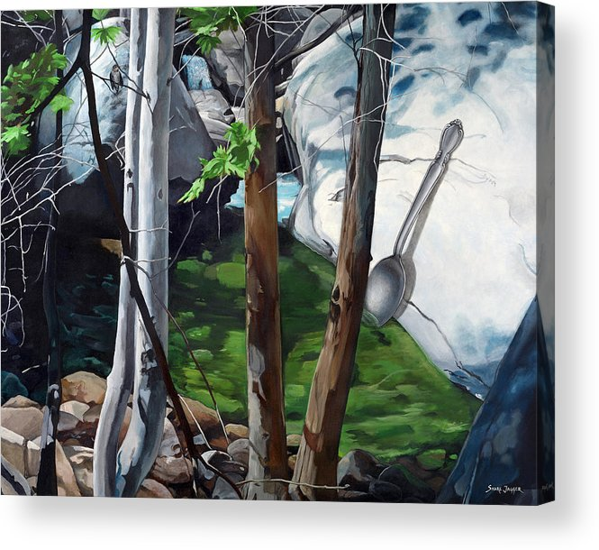 Landscape Acrylic Print featuring the painting A Taste of Nature by Snake Jagger
