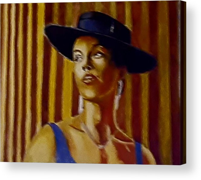 Portrait Acrylic Print featuring the painting Alica by Andrew Johnson