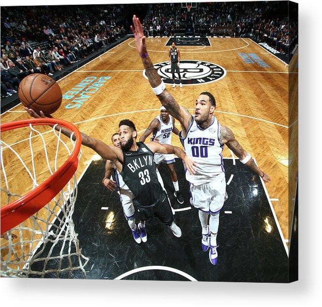 Nba Pro Basketball Acrylic Print featuring the photograph Allen Crabbe by Nathaniel S. Butler