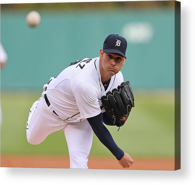 American League Baseball Acrylic Print featuring the photograph Anibal Sanchez by Leon Halip