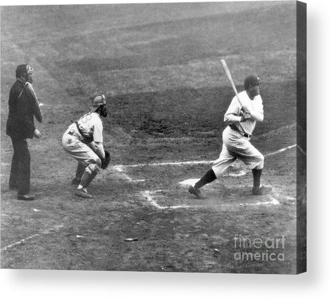 American League Baseball Acrylic Print featuring the photograph Babe Ruth by National Baseball Hall Of Fame Library