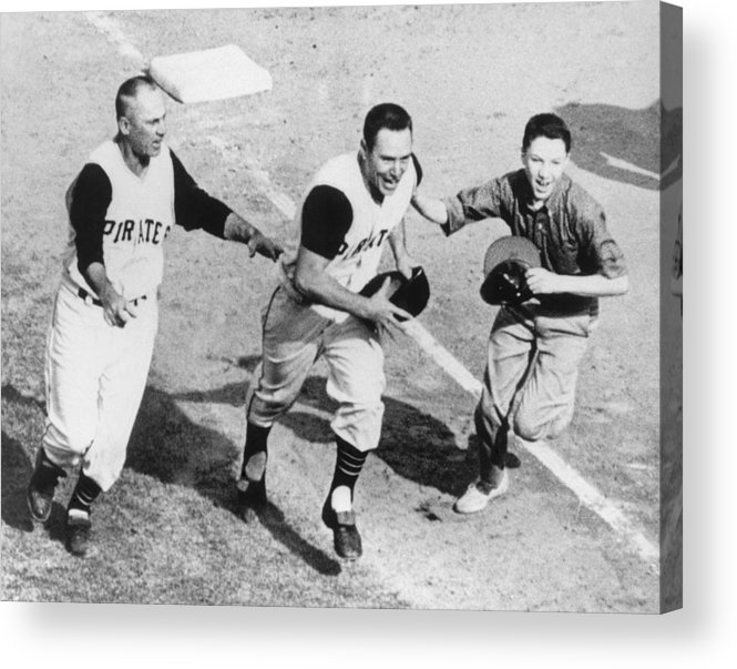 Bill Mazeroski Acrylic Print featuring the photograph Bill Mazeroski by Mlb Photos