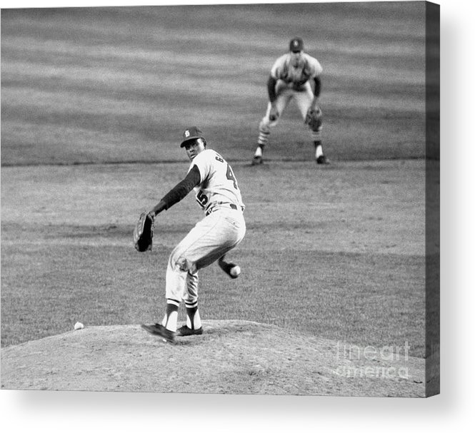 1950-1959 Acrylic Print featuring the photograph Bob Gibson by National Baseball Hall Of Fame Library