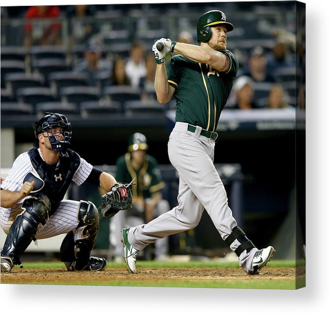 Brian Mccann Acrylic Print featuring the photograph Brian Mccann and Brandon Moss by Elsa