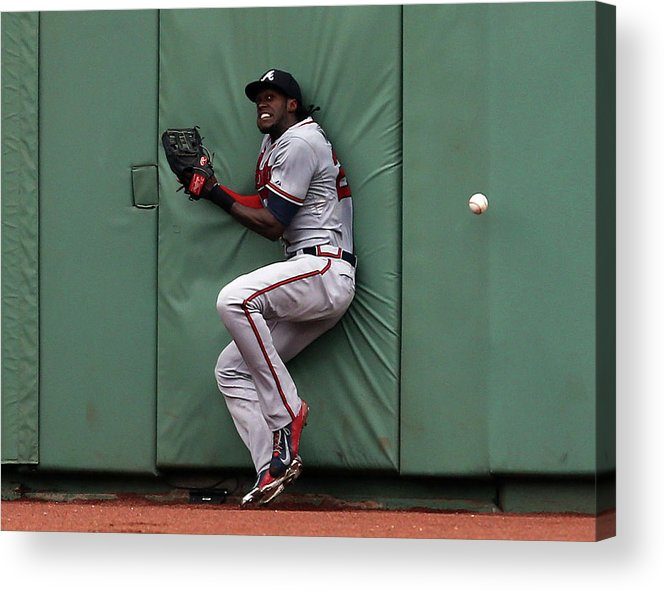 People Acrylic Print featuring the photograph Cameron Maybin and Mookie Betts by Jim Rogash