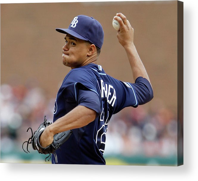 American League Baseball Acrylic Print featuring the photograph Chris Ray by Duane Burleson