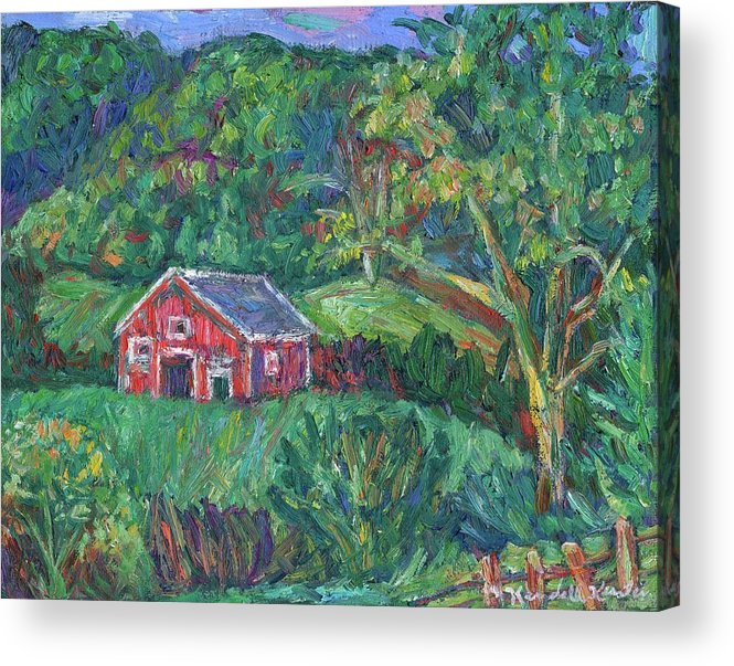 Rural Acrylic Print featuring the painting Clover Hollow in Giles County by Kendall Kessler
