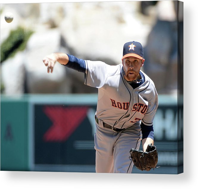 American League Baseball Acrylic Print featuring the photograph Collin Mchugh by Harry How