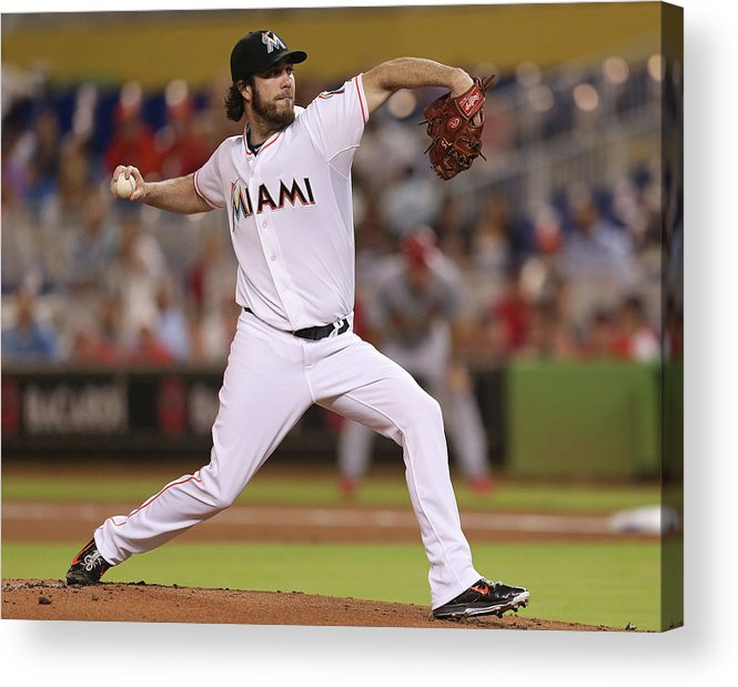 People Acrylic Print featuring the photograph Dan Haren by Rob Foldy