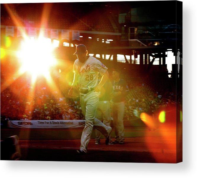 American League Baseball Acrylic Print featuring the photograph Daniel Murphy by Rich Schultz