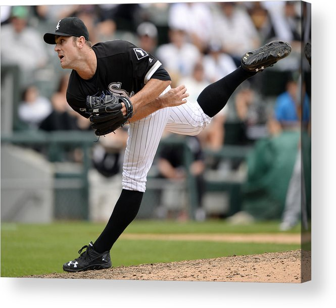 American League Baseball Acrylic Print featuring the photograph David Robertson by Ron Vesely