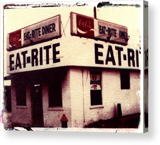 Polaroid Transfer Acrylic Print featuring the photograph Eat Rite by Jane Linders