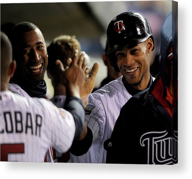 Game Two Acrylic Print featuring the photograph Eduardo Nunez by Brian Blanco