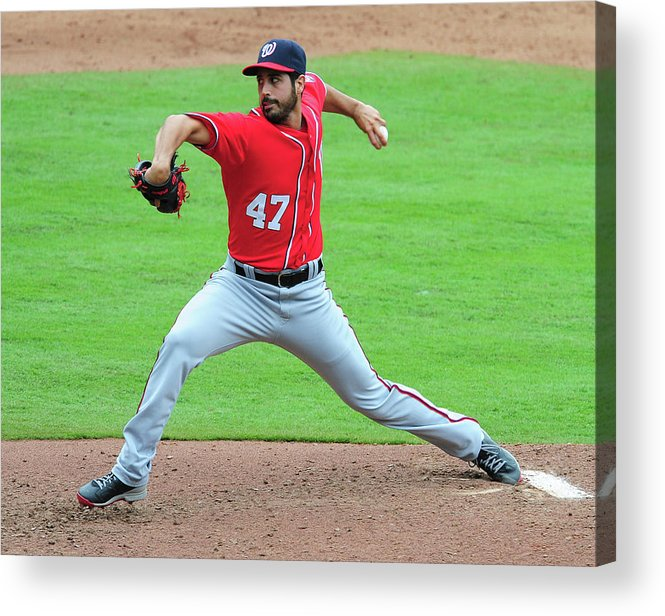 Atlanta Acrylic Print featuring the photograph Gio Gonzalez by Scott Cunningham