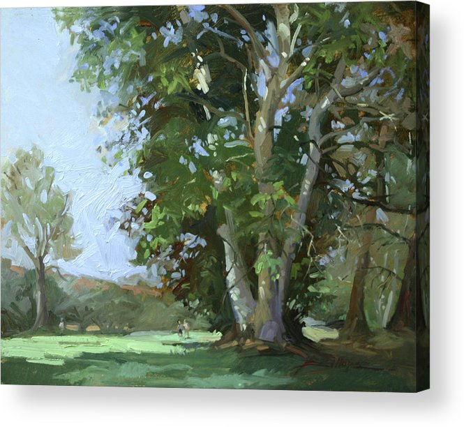 Golf Courses Acrylic Print featuring the painting Guardian of the Green by Betty Jean Billups
