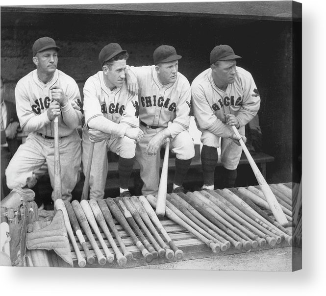 People Acrylic Print featuring the photograph Hack Wilson and Rogers Hornsby by Chicago History Museum