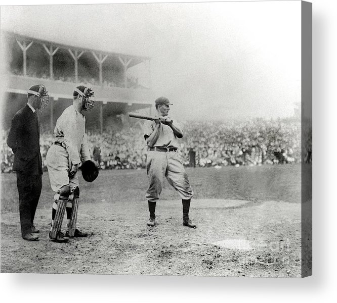 Home Base Acrylic Print featuring the photograph Honus Wagner by National Baseball Hall Of Fame Library