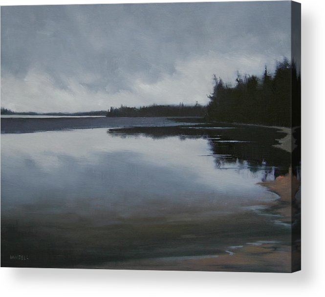 Acrylic Print featuring the painting Ice Out by Mary Jo Van Dell