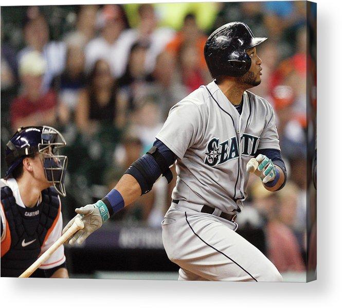American League Baseball Acrylic Print featuring the photograph Jason Castro by Bob Levey