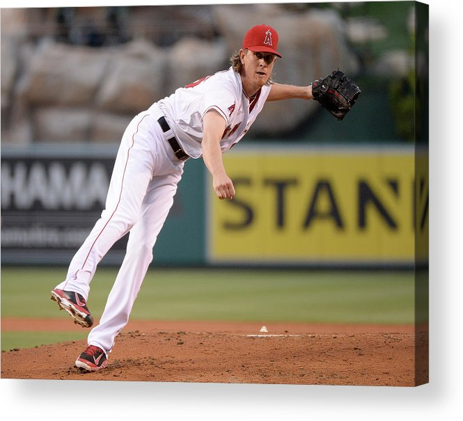 American League Baseball Acrylic Print featuring the photograph Jered Weaver by Harry How