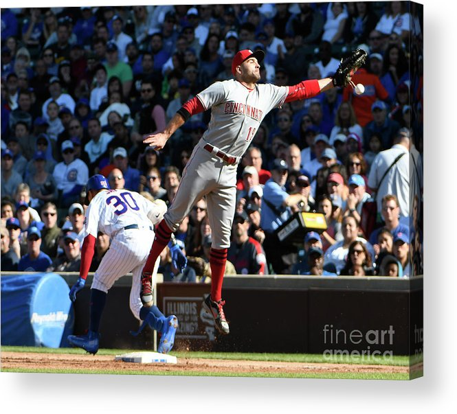 People Acrylic Print featuring the photograph Jon Jay and Joey Votto by David Banks