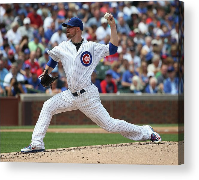 People Acrylic Print featuring the photograph Jon Lester by Jonathan Daniel