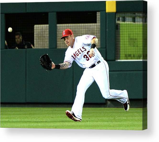 American League Baseball Acrylic Print featuring the photograph Josh Hamilton and Dustin Ackley by Harry How