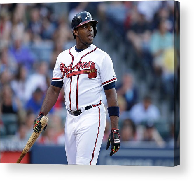 Atlanta Acrylic Print featuring the photograph Justin Upton by Mike Zarrilli