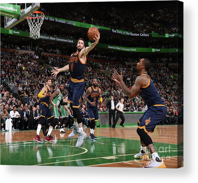 Nba Pro Basketball Acrylic Print featuring the photograph Kevin Love by Brian Babineau