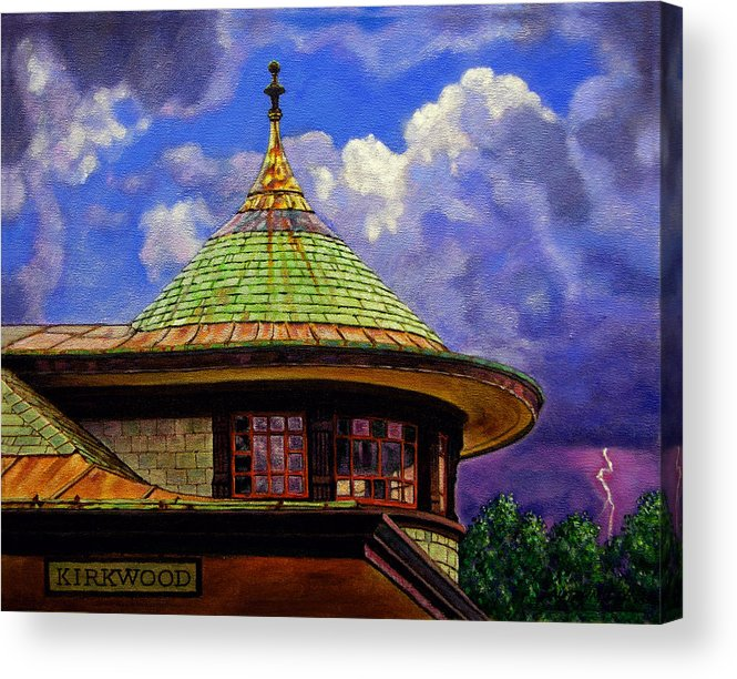 Kirkwood Acrylic Print featuring the painting Kirkwood Train Station by John Lautermilch