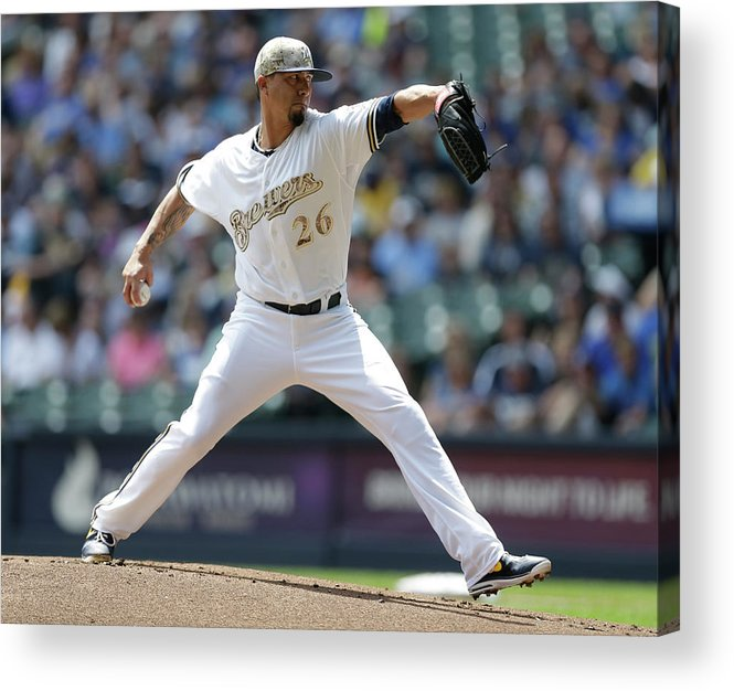 American League Baseball Acrylic Print featuring the photograph Kyle Lohse by Jeffrey Phelps