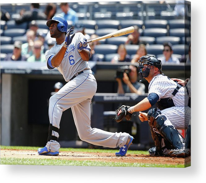 People Acrylic Print featuring the photograph Lorenzo Cain by Al Bello
