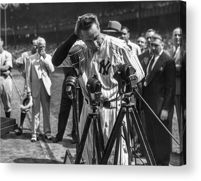American League Baseball Acrylic Print featuring the photograph Lou Gehrig by The Stanley Weston Archive