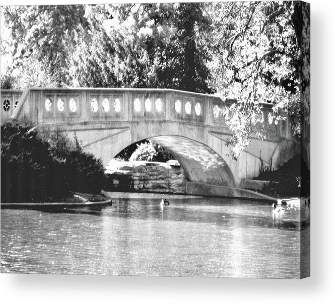 Black And White Image Acrylic Print featuring the painting Twin Lakes 1 by Suzzanna Frank