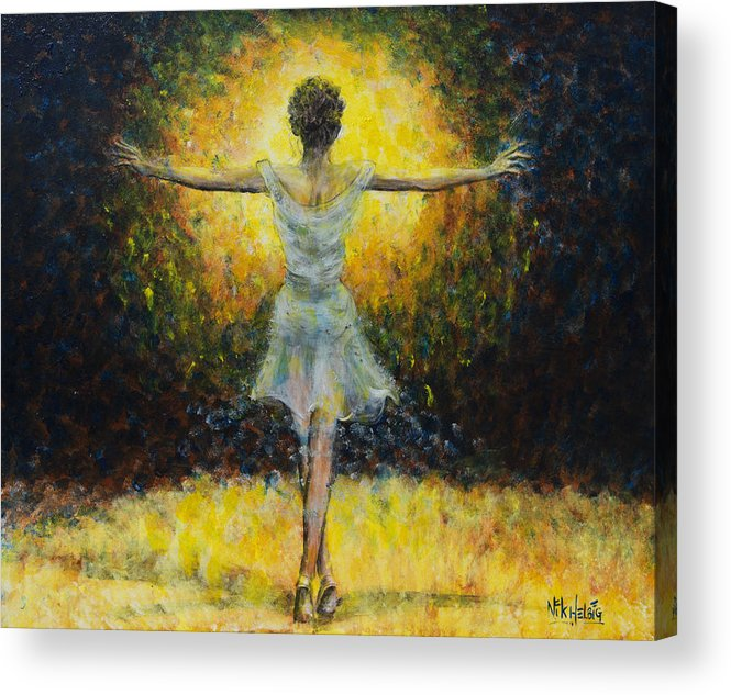 Dancer Acrylic Print featuring the painting Once In A Lifetime by Nik Helbig