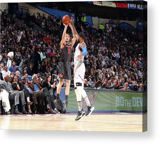 Event Acrylic Print featuring the photograph Paul George and Klay Thompson by Nathaniel S. Butler